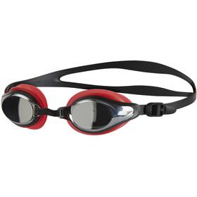 speedo Mariner Supreme Mirror Goggles Unisex, lava red/black/chrome